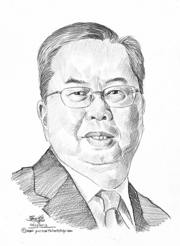 Pencil portrait for Chinese Swimming Club Michael Leong - 10