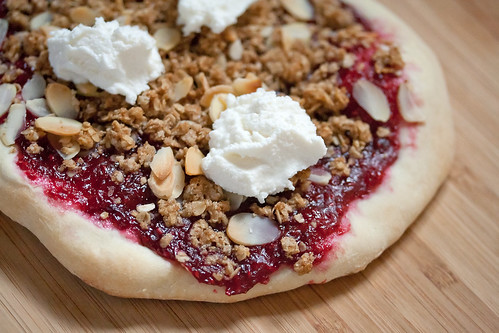 Raspberry Cobbler Pizza