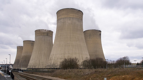 Ratcliffe Power Station from the Midland Main Line
