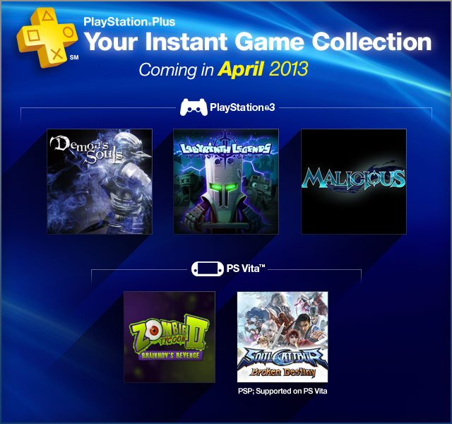 PlayStation Plus Update - April 2013