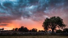 Ciel de feu - Sky of fire - Photo of La Fage-Montivernoux