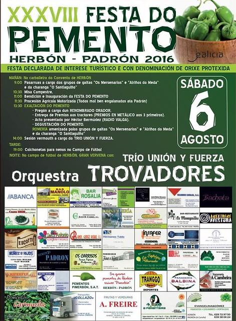 Padrón 2016 - Festa do Pemento de Herbón - cartel