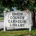 Union Carnegie Library Sign