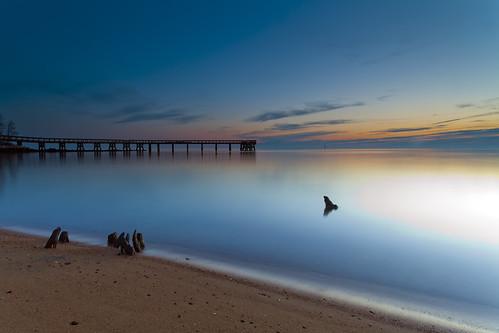 longexposure morning sky beach water night sunrise dawn pier glow smooth maryland clear pasadena formations chesapeakebay henge downspark canon5dmkii singhrayrgnd ef1740f40lusm
