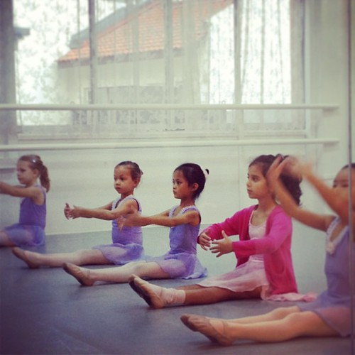 her first day of ballet class in 2013.
