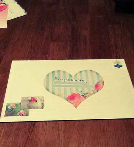 Outgoing mail to Sassie