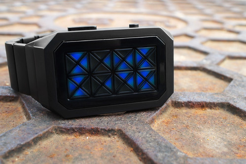 Kisai Adjust LED Watch Design with Six User Selectable Colors from Tokyoflash Japan