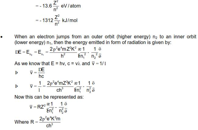 CBSE Class 12 Physics Notes: Dual Nature of Radiation and Matter - Bhor Model