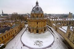Oxford snow scene