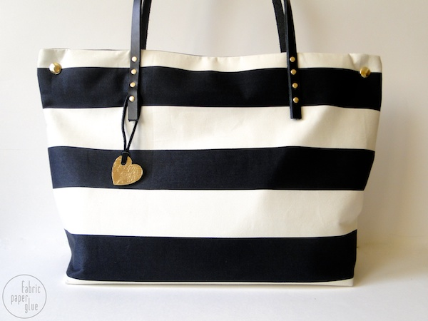 Striped Tote Redux 1