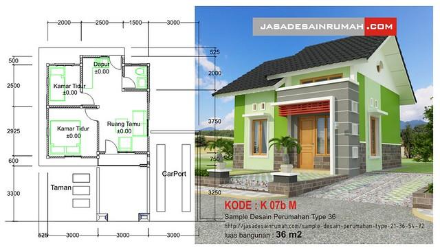 sample desain perumahan type 21 36 54 72 jasa desain