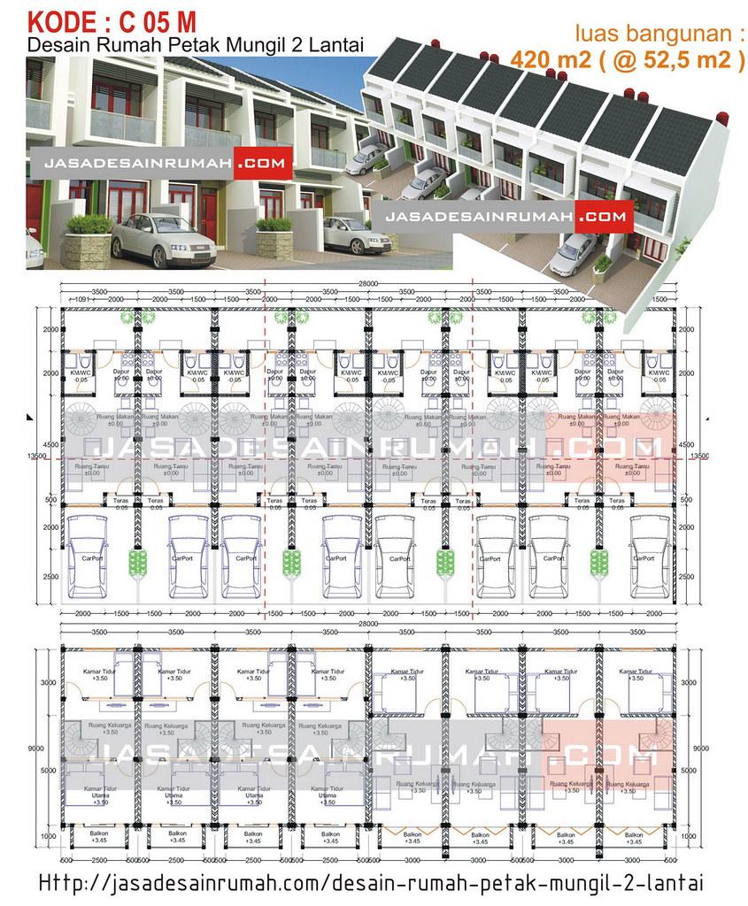 Desain Rumah Petak Mungil 2 Lantai Jasa Desain Rumah
