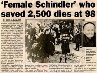 Irena Sendler (1910-2008) RIP