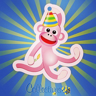 The #Birthday Monkey #Thingie smells a bit of fondant and poo. Oh, and Collectivus turned 3 today.