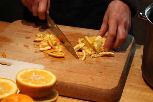Slicing the Seville peel