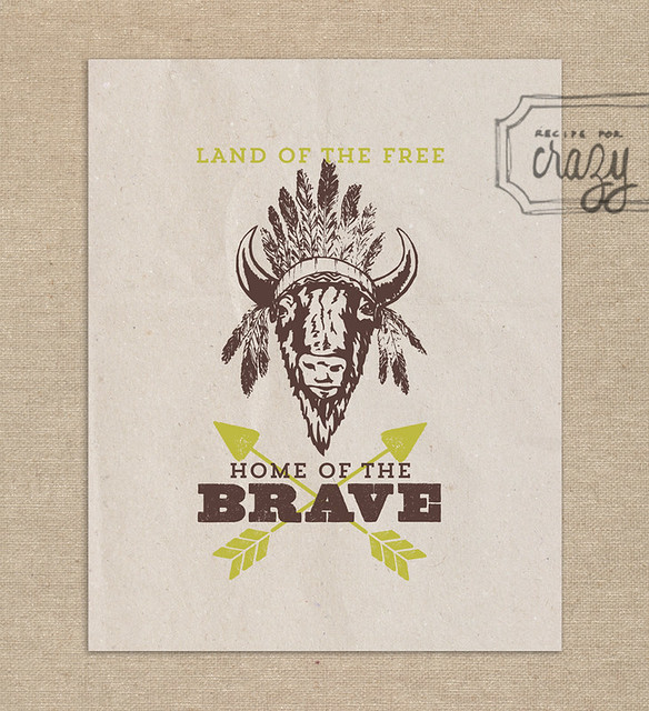 Land of the Free, Home of the Brave - 8x10 print