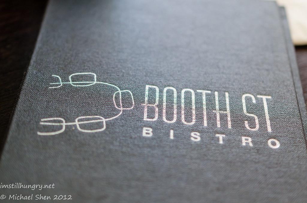 Booth St Bistro - menu