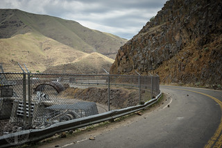 Along Brownlee Dam