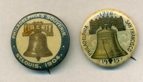 Liberty Bell pinbacks