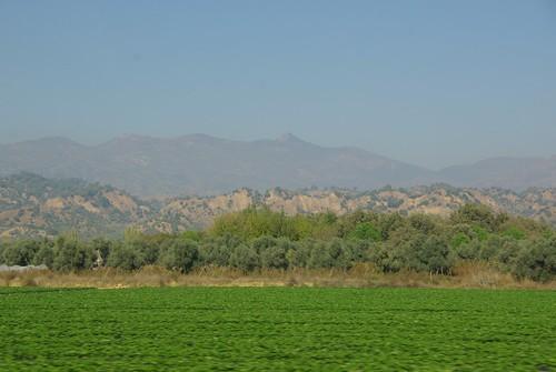 mountains turkey countryside farmland hills crops shrubs