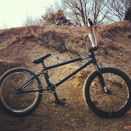 現在のチャリ。なかなか乗りやすいぞ。#bmx #trails #bikecheck #deluxe #profile