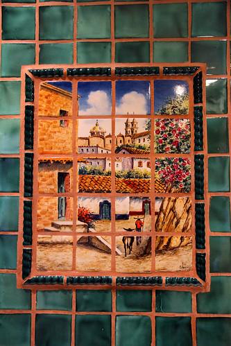 La Posada - Room 241 (Emilio Estevez) - Mural Above Whirlpool Bath