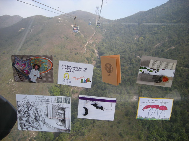 my REAL wall on the cable car in Hong Kong