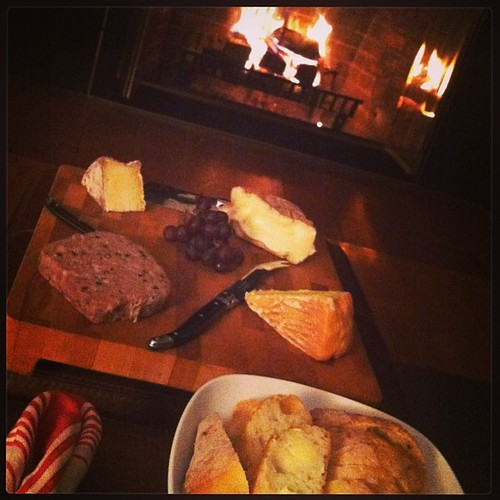 Skipped our usual thursday night out in favor of the annual Formaggio Kitchen picnic dinner by the fire. ? ( @mscelfo, you almost lured us in w those pics, despite a no v-day out rule!) #valentines #cheese #charcuterie