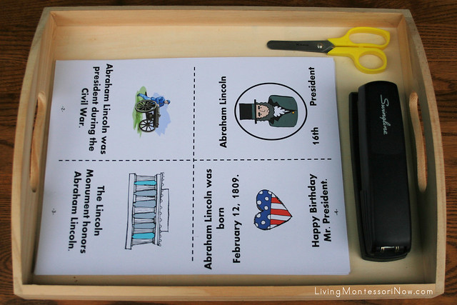 Presidents' Day Mini Book Tray