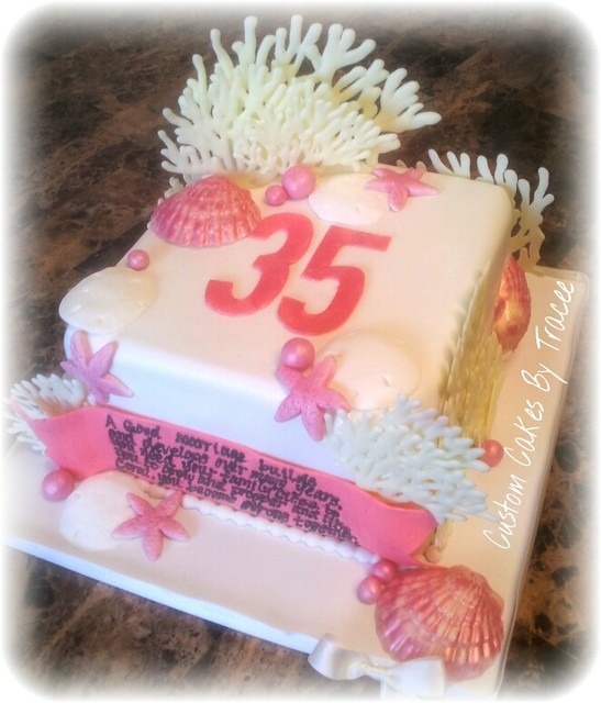 35th coral wedding anniversary cake flickr photo sharing for 35th birthday decoration ideas