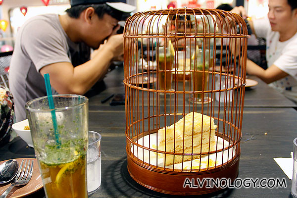 Cake in a bird cage