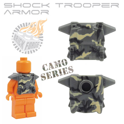 Shock Trooper Armor - Dark Blueish Gray (camo print)
