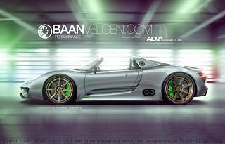 Porsche 918 ADV1 wheels