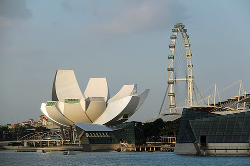 Art Science Museum and Singapore Flyer