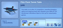 Plink Plonk Tennis Table