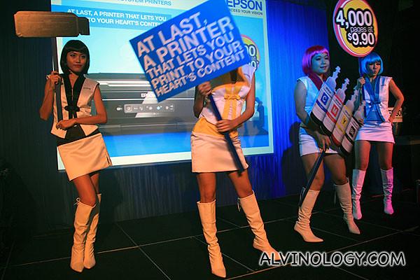 Epson CMYK girls on stage