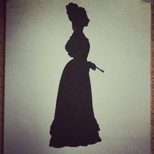 Silhouette (1823) of Fanny Brawne (1800-65) by Augustin Édouart at the Keats-Shelley House, Rome