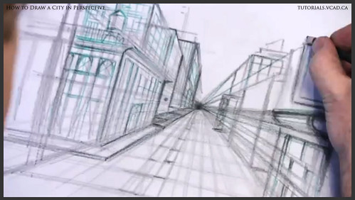 learn how to draw city buildings in perspective 016