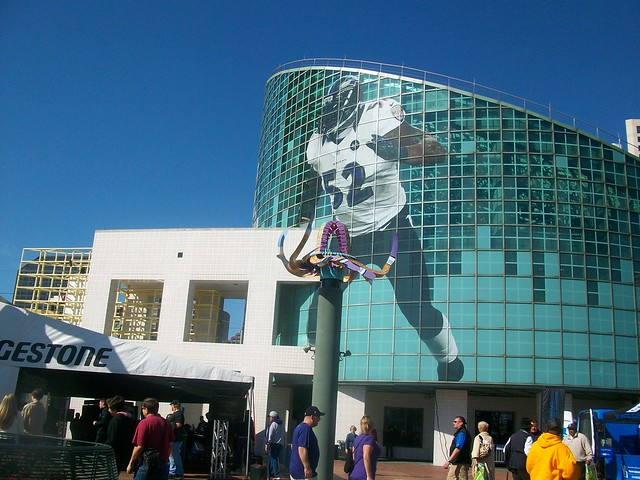 Mural of Ray Lewis at Super Bowl