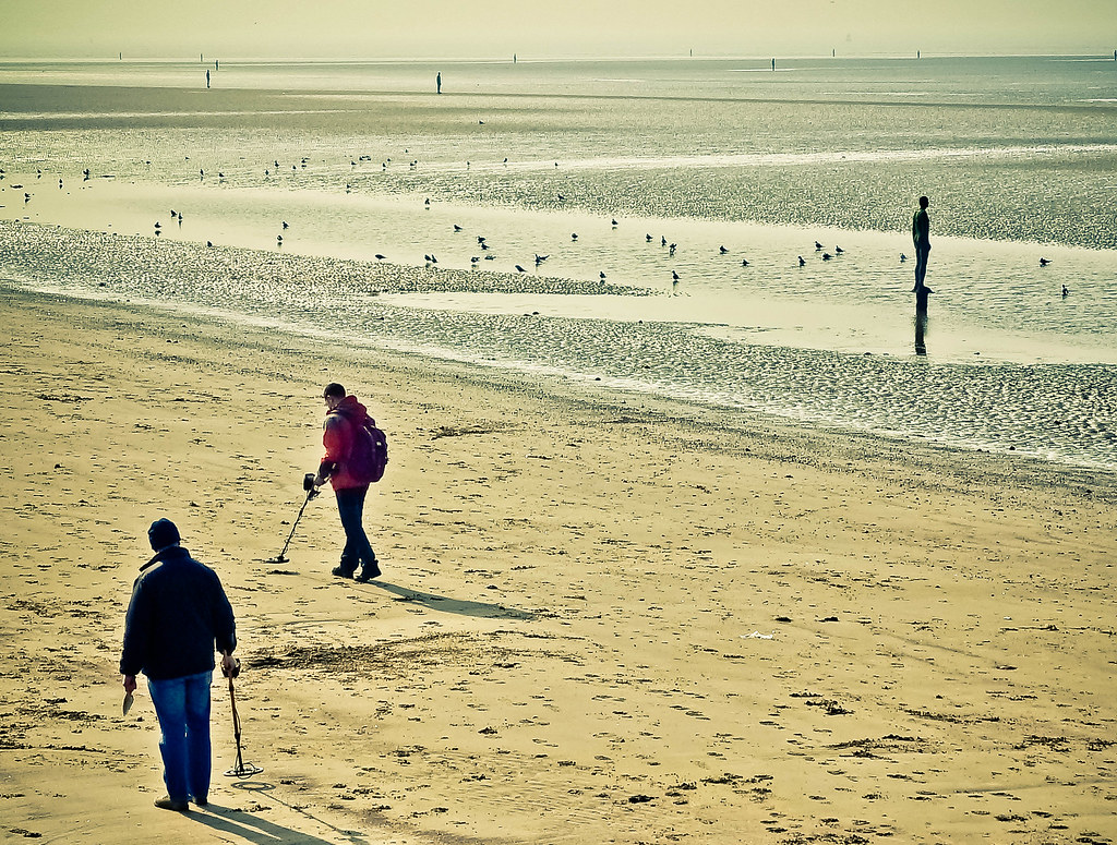 Treasure hunting, Crosby beach