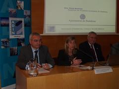Esq-dreta: Joan Bellavista (Port Mataró), Rosa Bertran (Aj.Badalona) i Carlos Rico (ADIN).