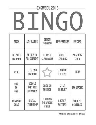 SXSWedu Bingo