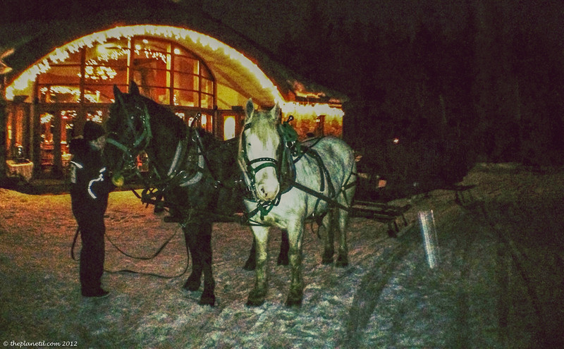sleigh ride romantic whistler