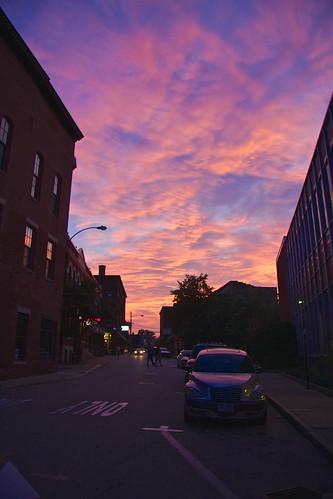 new autumn sunset usa fall colors america colours united hampshire states concord