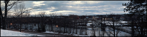bridge panorama snow cityscape waterville gloom winslow kennebecriver pentaxm50mmf14 pentaxk30