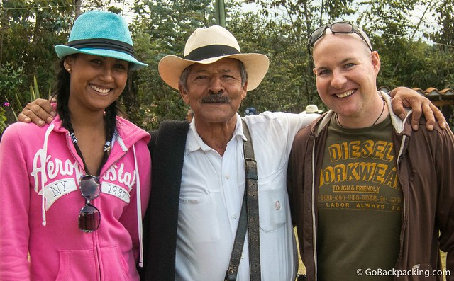 Viviana and I and with Don Aristides, the