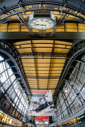 Hamburg Hauptbahnhof Wandelhalle 8mm Fisheye - Fuji X-Pro 1