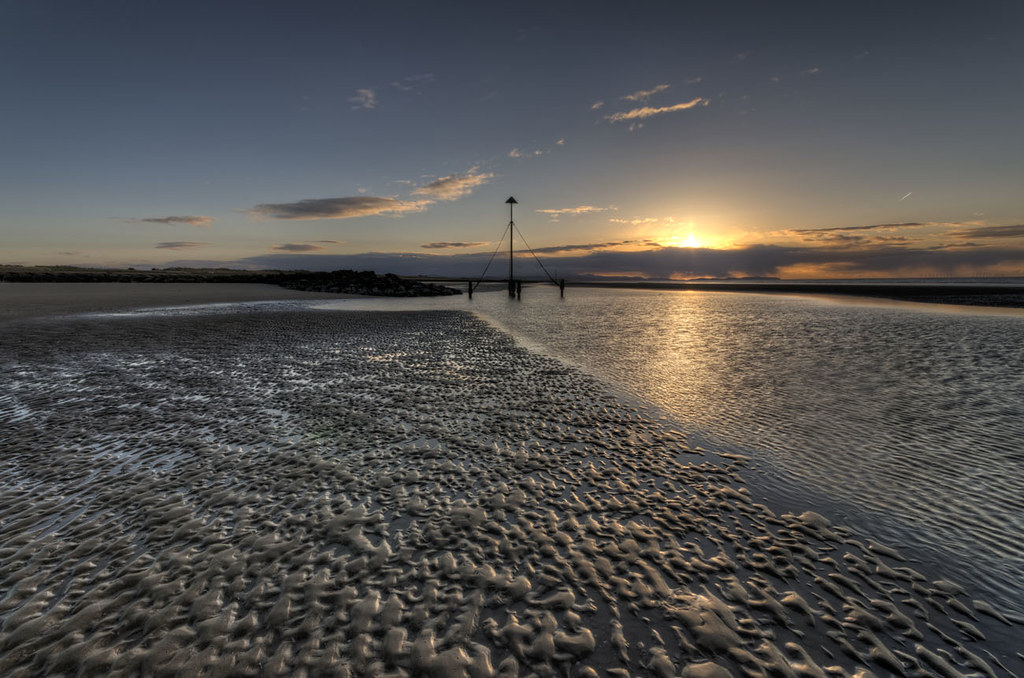 Sunset on Prestatyn Beach