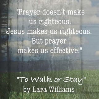 Prayer quote from To Walk or Stay
