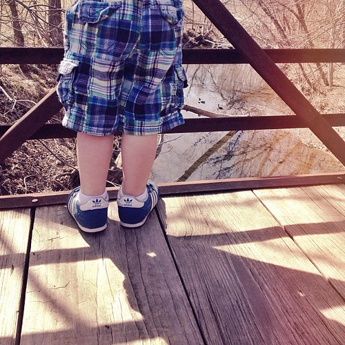 """Getting shorts on this boy was so dramatic! He thought they were """"broken"""" pants. #2yearold"""